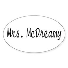 Mrs. McDreamy Oval Decal