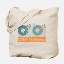 Old Shcool Turntables Tote Bag
