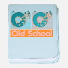 Old Shcool Turntables baby blanket
