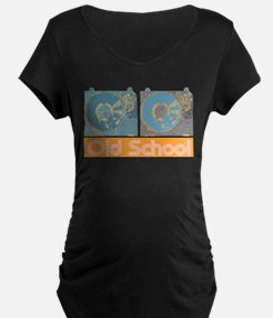 Old Shcool Turntables Maternity T-Shirt