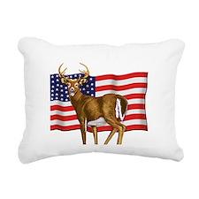 deerUSflag.png Rectangular Canvas Pillow
