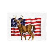 deerUSflag.png 5'x7'Area Rug