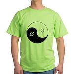 """""""Yin Yang / Male Female"""" Green T-Shirt"""