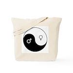 """""""Yin Yang / Male Female"""" Tote Bag"""