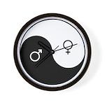 """Yin Yang / Male Female"" Wall Clock"