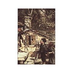 Rackham's Hansel and Grethel Rectangle Magnet