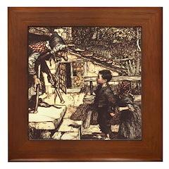 Rackham's Hansel and Grethel Framed Tile