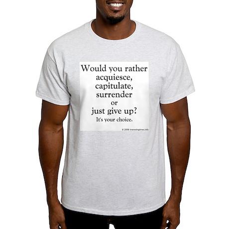 acquiesce Ash Grey T-Shirt