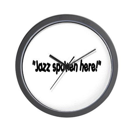 Jazz Spoken Here Wall Clock