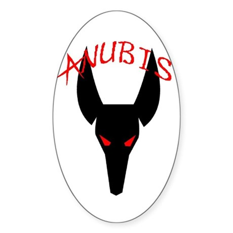Anubis Oval Sticker