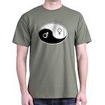 """Yin Yang / Male Female"" Dark T-Shirt"