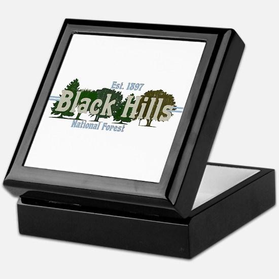 Vintage Black Hills National Forest T Keepsake Box
