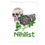 Nihilist Skull Postcards (Package of 8)