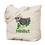 Nihilist Skull Tote Bag