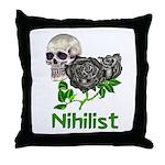 Nihilist Skull Throw Pillow