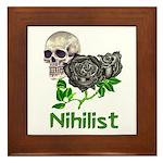 Nihilist Skull Framed Tile
