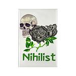 Nihilist Skull Rectangle Magnet