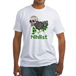Nihilist Skull Fitted T-Shirt