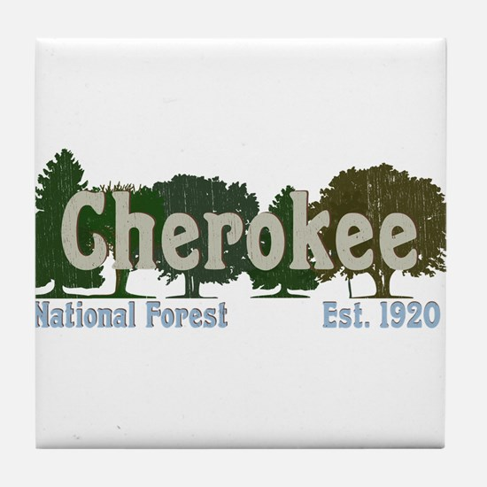 Print Press Cherokee National Forest Tile Coaster