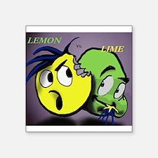 "LEMON VERSUS LIME Square Sticker 3"" x 3"""
