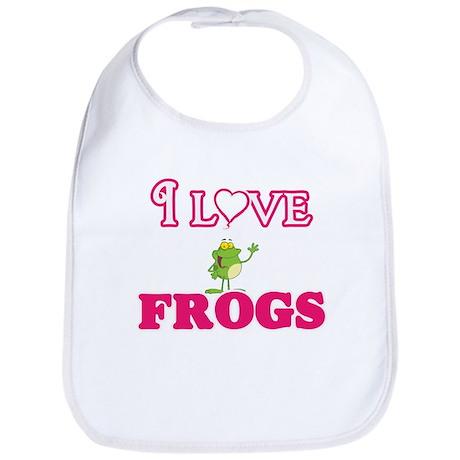I Love Frogs Baby Bib