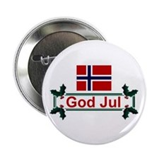 Norway God Jul Button