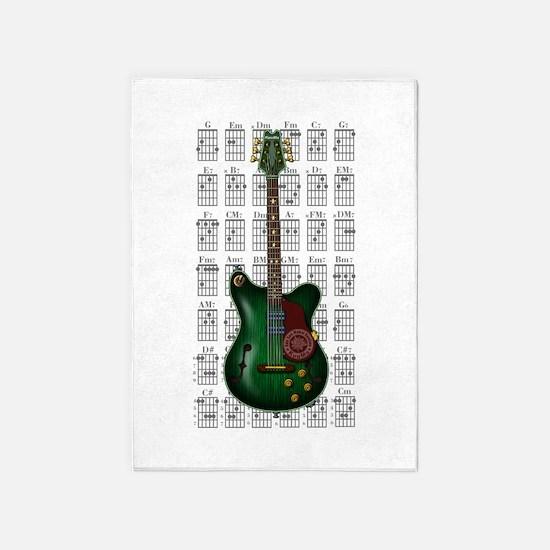 KuuMa Guitar 09 5'x7'Area Rug