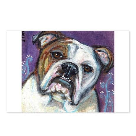 Portrait of an English Bulldog Postcards (Package
