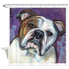 Portrait of an English Bulldog Shower Curtain
