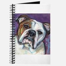 Portrait of an English Bulldog Journal