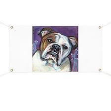 Portrait of an English Bulldog Banner