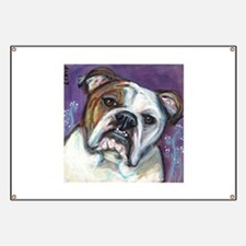 Portrait of an English Bulldog Banner