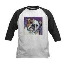 Portrait of an English Bulldog Baseball Jersey