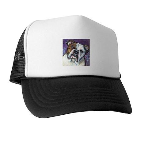 Portrait of an English Bulldog Trucker Hat