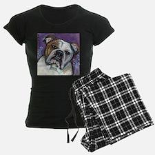 Portrait of an English Bulldog Pajamas