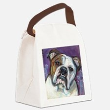 Portrait of an English Bulldog Canvas Lunch Bag