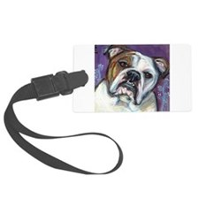 Portrait of an English Bulldog Luggage Tag