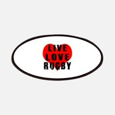 Live Love Rugby Patches