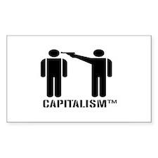 Capitalism TM Rectangle Decal