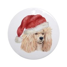 Christmas Poodle Ornament (Round)