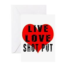 Live Love Shot Put Greeting Card