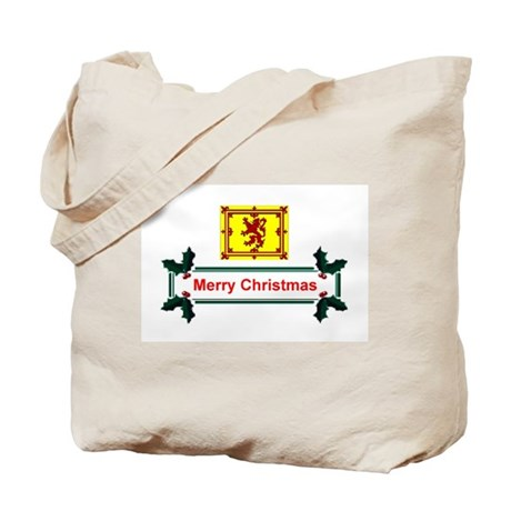 Scottish Christmas Tote Bag