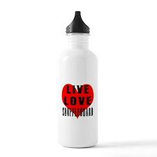 Live Love Shuffleboard Water Bottle