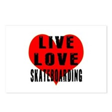 Live Love Skateboarding Postcards (Package of 8)