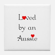 Loved by an Aussie Tile Coaster