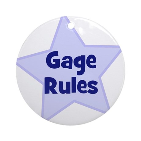 Gage Rules Ornament (Round)