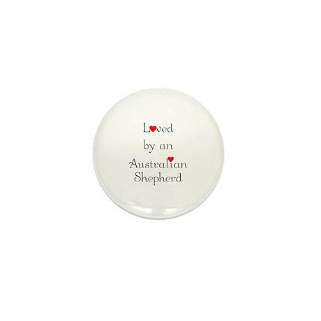 Loved by an Australian Shepherd Mini Button (10 pa