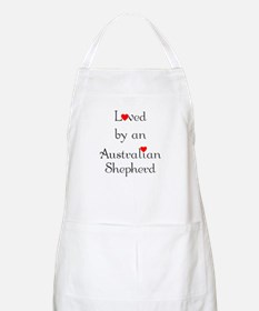 Loved by an Australian Shepherd BBQ Apron