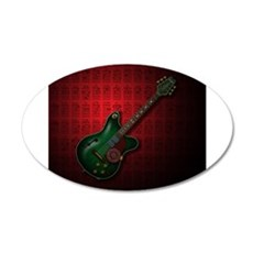 KuuMa Guitar 09 (R) 35x21 Oval Wall Decal