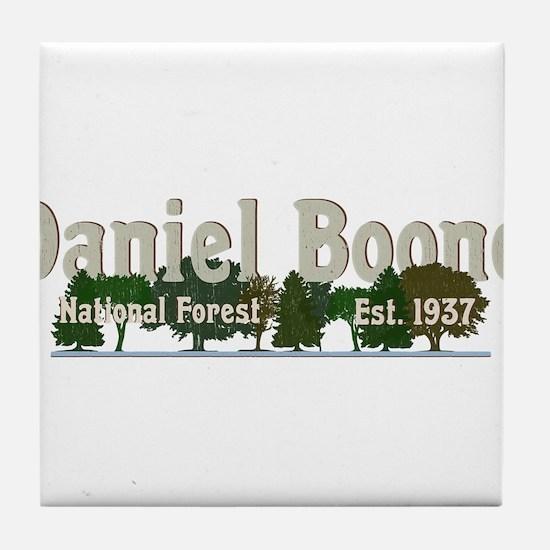 Vintage Daniel Boone National Forest Tile Coaster
